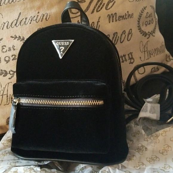 outlet store new styles order online Black Velvet mini back pack Felicity NWT